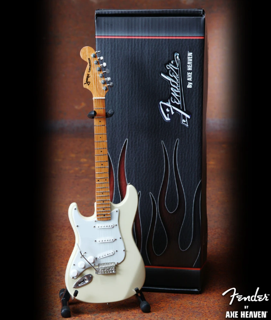 Fender™ Cream Reverse Headstock Strat™ Mini Guitar - Walt Grace Vintage