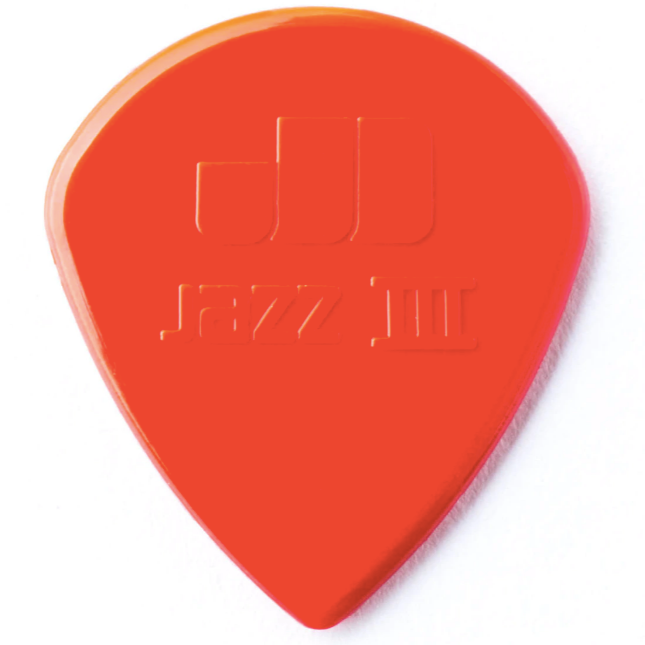 Dunlop Nylon Jazz III Pick Pack - Red Nylon