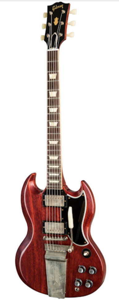 Gibson Custom Shop 1964 SG Standard Reissue W/ Maestro Electric Guitar - VOS Cherry Red