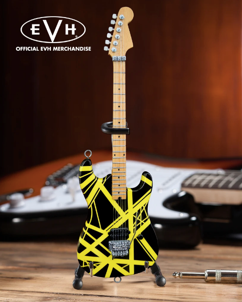 "EVH Black & Yellow VH2 ""Bumblebee"" Eddie Van Halen - Mini Guitar"