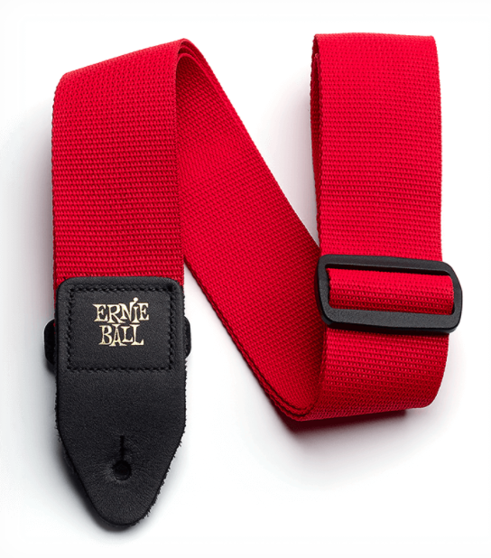 Ernie Ball Polypro Guitar Strap - Red