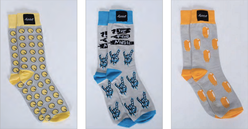 Marshall 3 Pack Pop Art Socks - Multiple Sizes