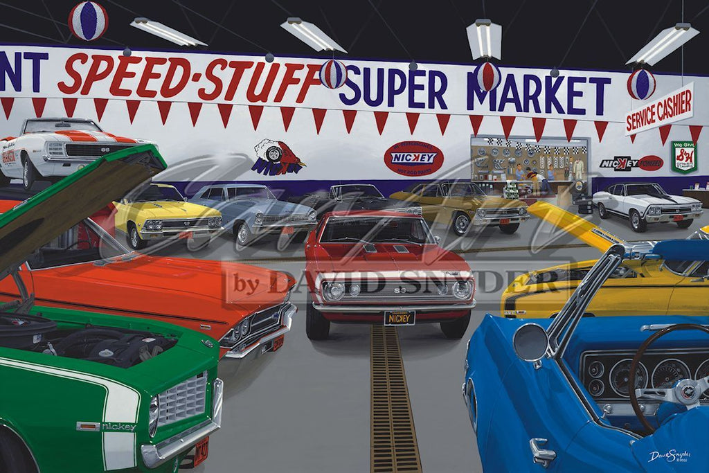 """Speed-Stuff Super Market"" Limited Edition Print - Walt Grace Vintage"