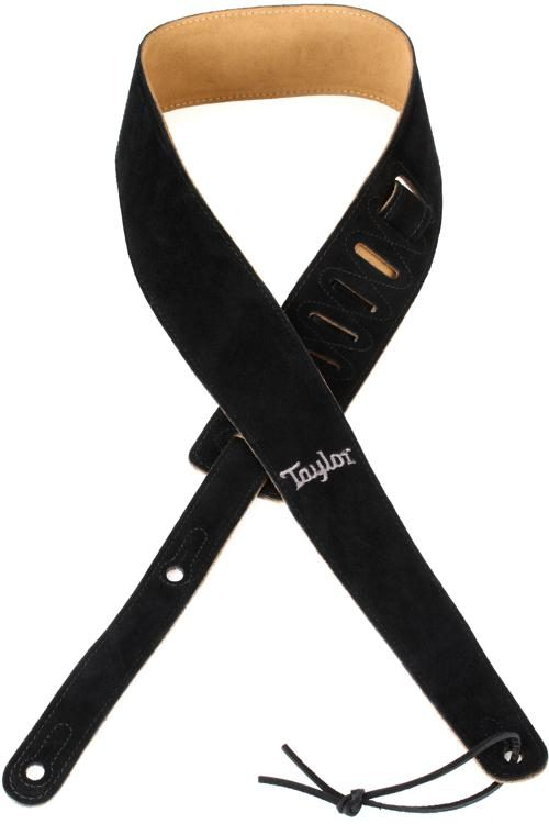 "Taylor Strap Embroidered Suede Black 2.5"" - Walt Grace Vintage"
