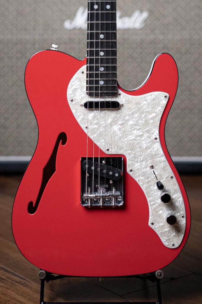 Fender Thinline Telecaster Limited Edition Electric Guitar - 2-Tone Fiesta Red - Walt Grace Vintage