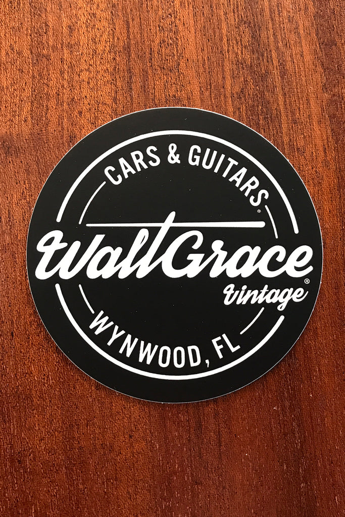 "Walt Grace Vintage Round Sticker 3"" - Black"
