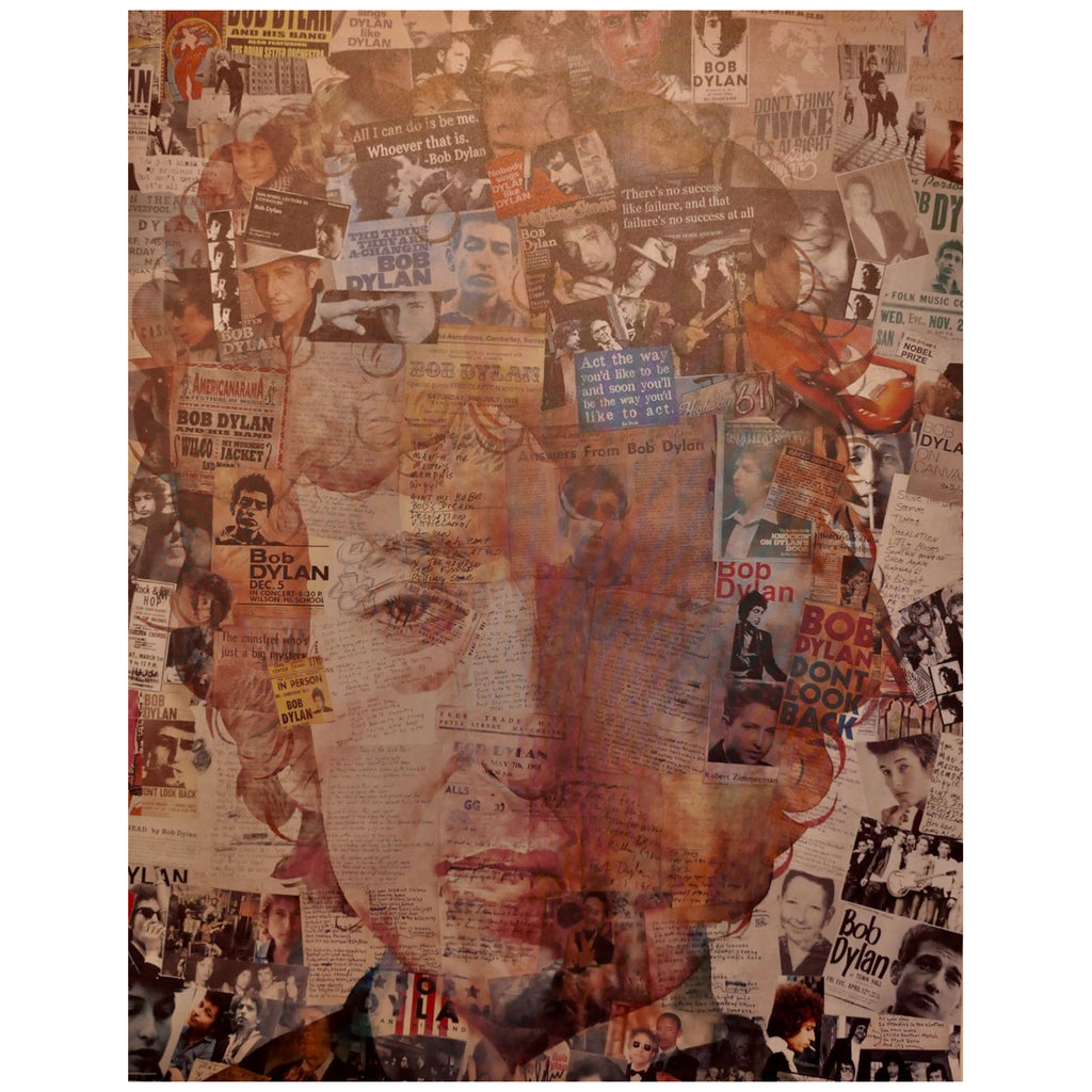 Anthony Brown - Bob Dylan Collage - Walt Grace Vintage