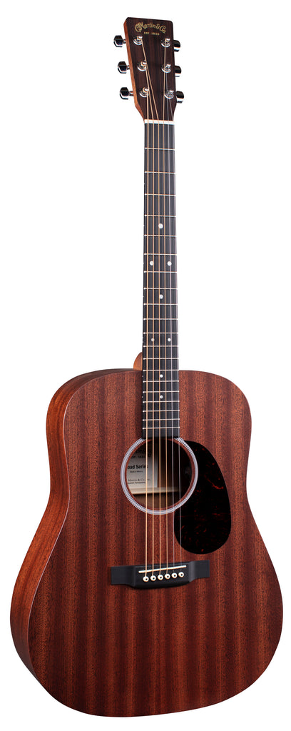 Martin D-10E Road Series Acoustic Electric Guitar - Natural Sapele
