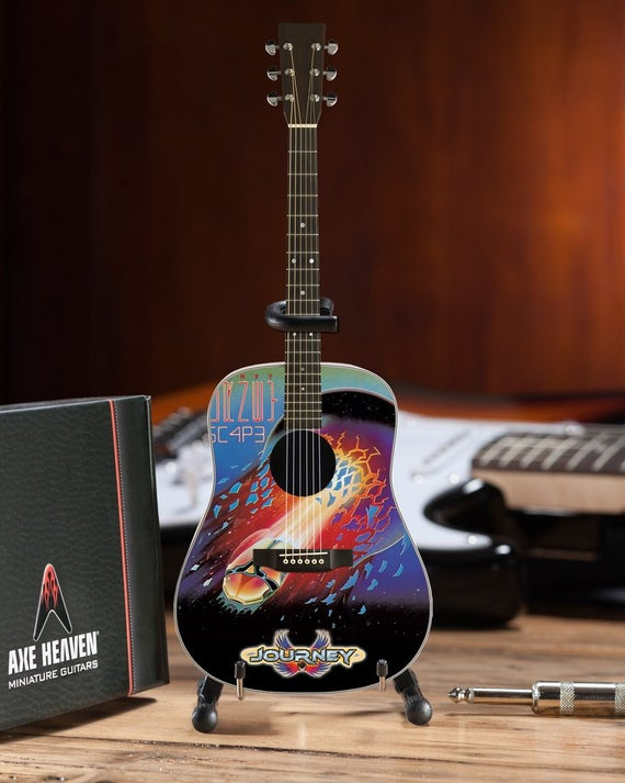 "Journey ""Escape"" Album Acoustic - Mini Guitar - Walt Grace Vintage"