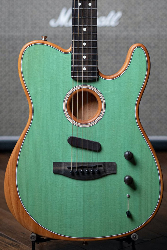 Fender Acoustasonic Telecaster Electric Guitar - Green - Walt Grace Vintage