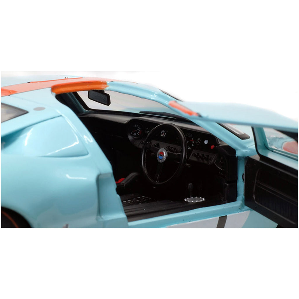 Solido #9 Ford GT40 MK1 Widebody 1968 24 Hours of Le Mans 1:18 Scale Model - Gulf - Walt Grace Vintage
