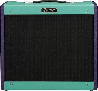 Fender Blues Junior IV 2020 Limited Edition Eminence Cannabis Rex Combo Amp Seafoam and Purple