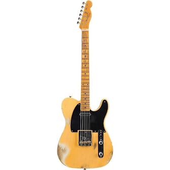 Fender Custom Shop '52 Telecaster Heavy Relic Electric Guitar - Butterscotch Blonde