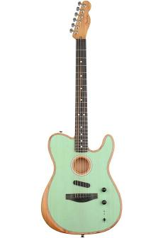Fender Acoustasonic Telecaster Electric Guitar - Green