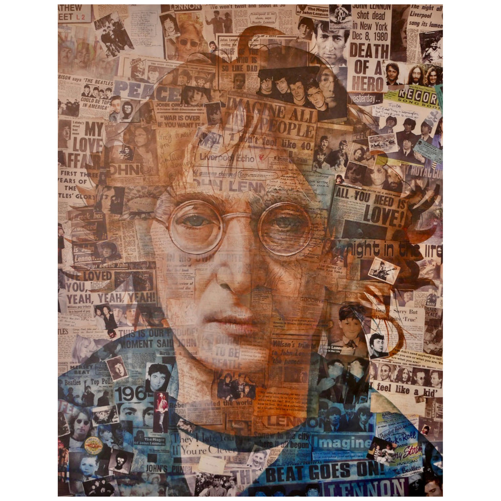 Anthony Brown - John Lennon Collage - Walt Grace Vintage