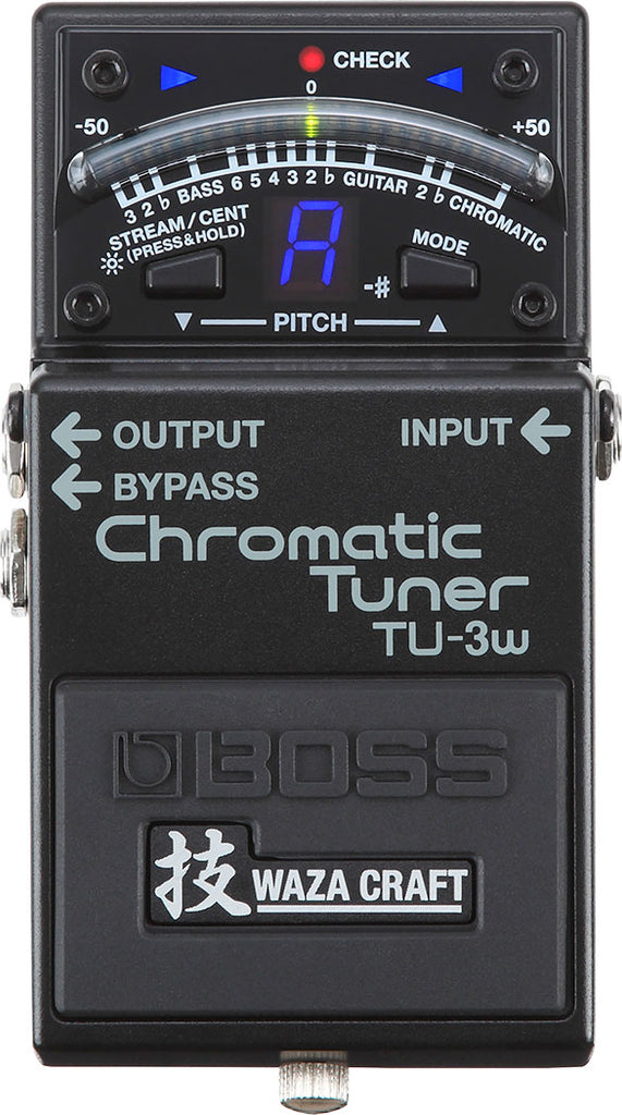 BOSS - TU-3W Waza Craft Chromatic Tuner Pedal - Walt Grace Vintage