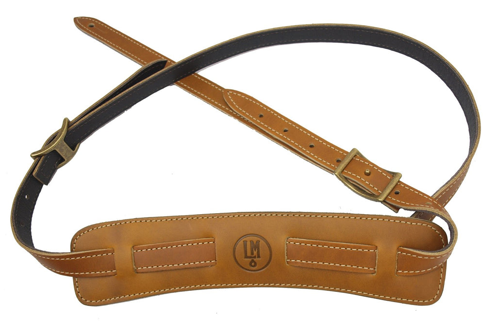 LM Products Vintage Pad Guitar Strap - Lux Edition Buttercotch - Walt Grace Vintage
