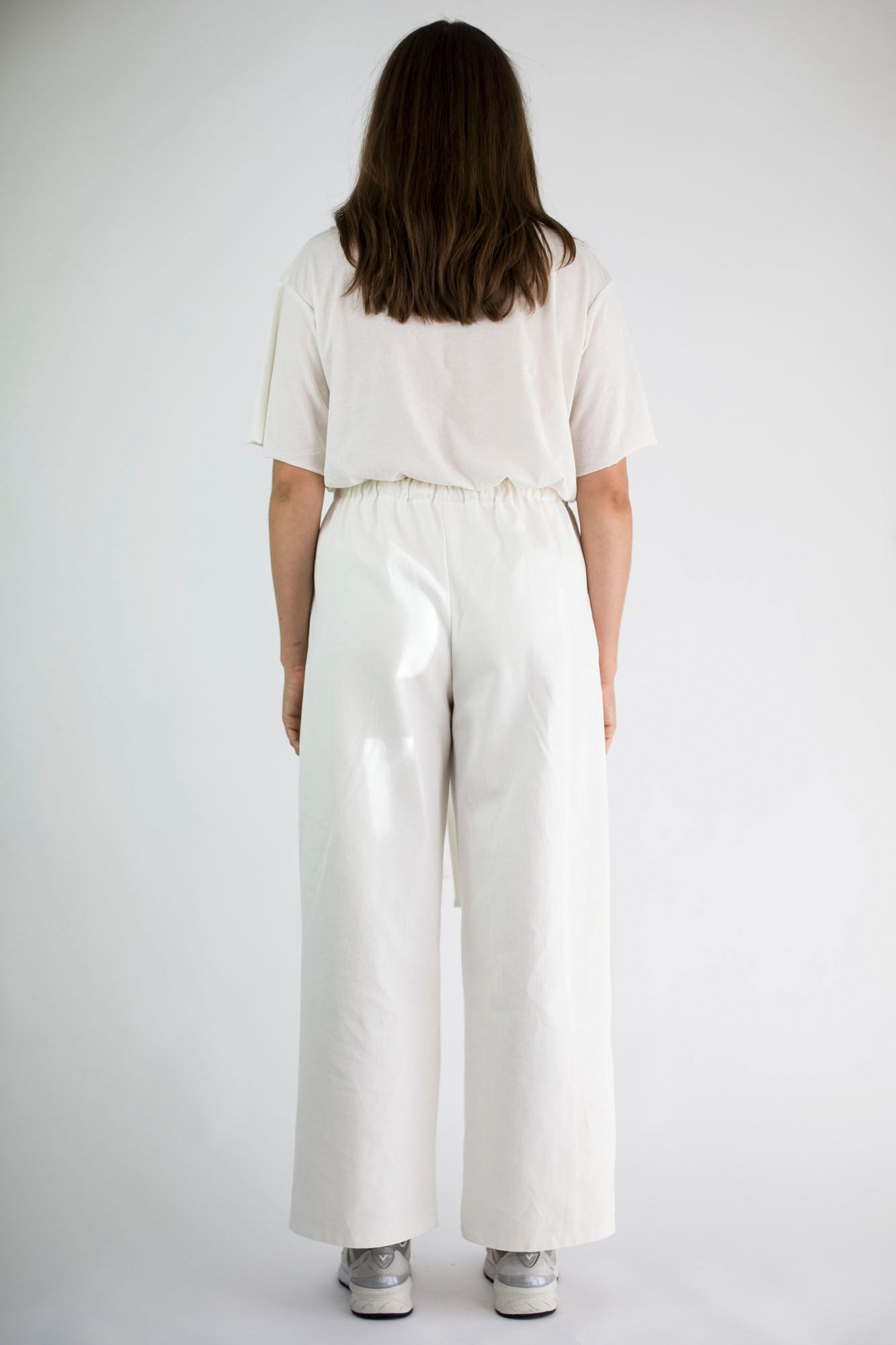 Canvas pant ivory.