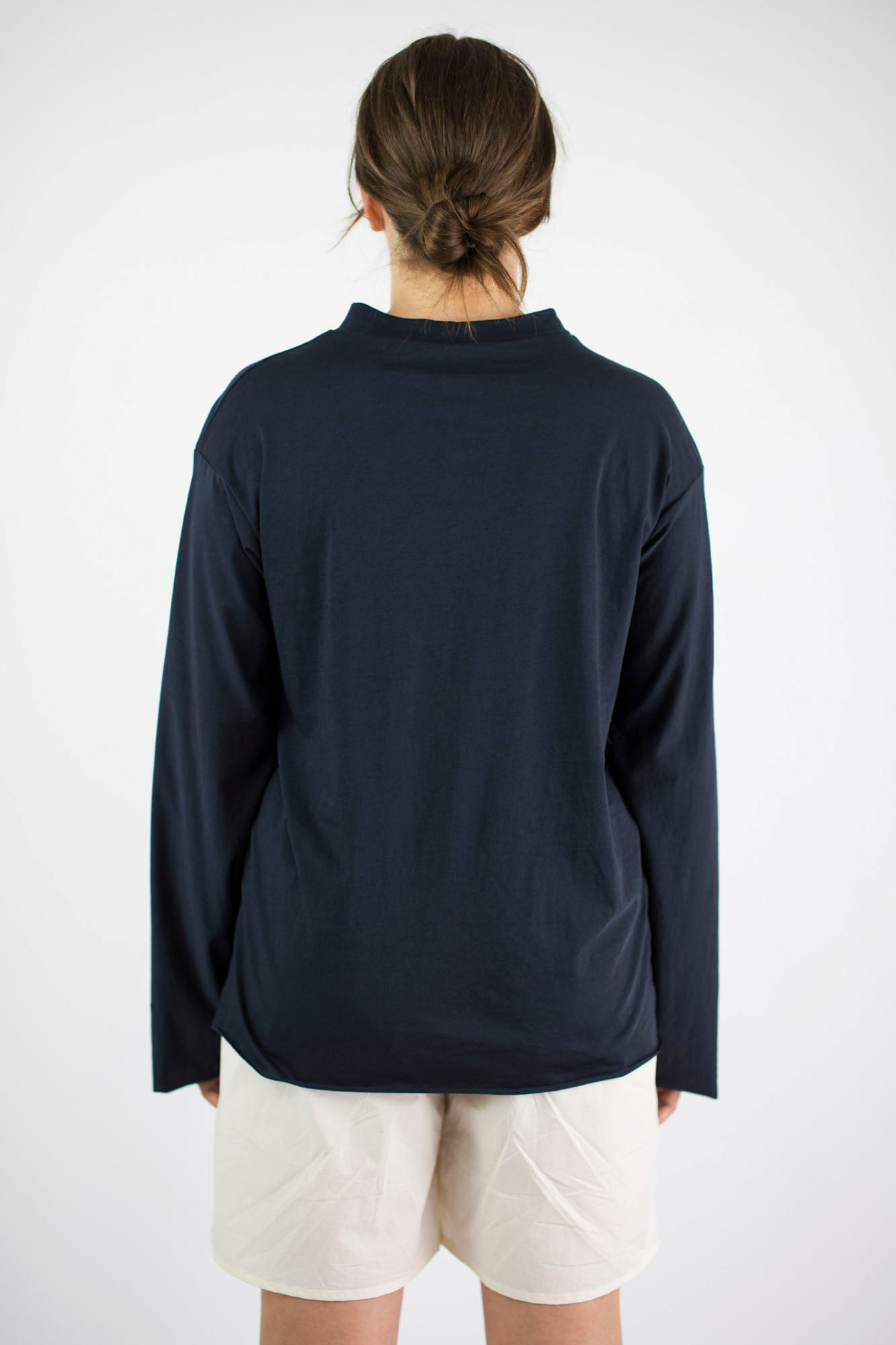 T shirt long sleeve deep ink.