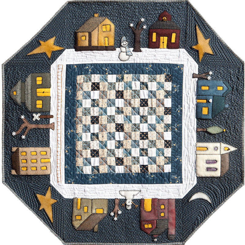 Prairie Town In Winter Quilt Pattern Little House Quilts