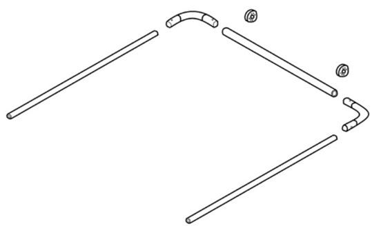 Steel Tarp Bow Set: Upper Arm and Cross Tube  | Tarping-Systems-Inc.