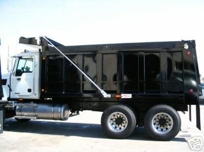 Dump Truck Tarp System - Electric STEEL Tarp Kit for Beds Up to 23' (Stealth) | Tarping-Systems-Inc.