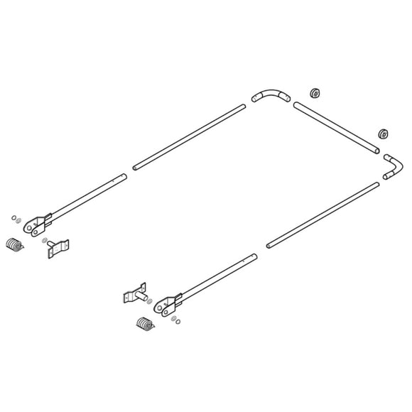 4 Spring Steel Arm Set with Springs & Hardware | Tarping-Systems-Inc.