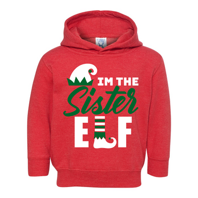 Elf sister Toddler Pullover Fleece Hoodie