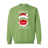 Red Santa Heavy Blend Crewneck Sweatshirt
