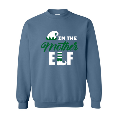 Mother Elf Heavy Blend Crewneck Sweatshirt