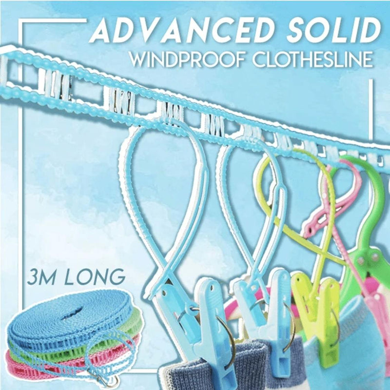 Advanced Solid Windproof Clothesline