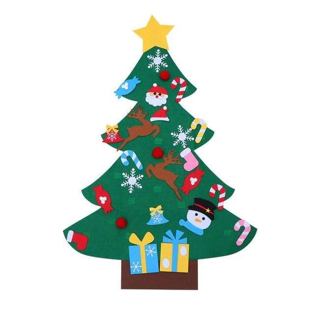 DIY 3D Felt Christmas Tree (2 Designs) Cayyogo