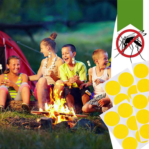 Natural Moskipatch 20 Packs 120 Stickers for Adults and Kids USAMS Mosquito Repellent Patches Suitable for Outdoors Hiking Camping on Clothing Furniture