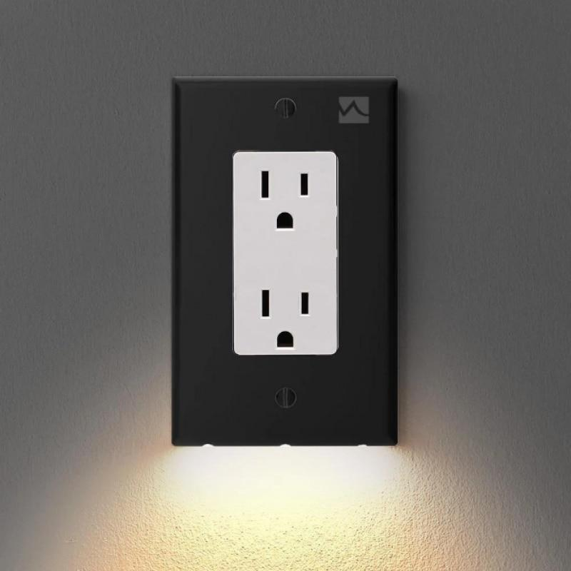Outlet Plug Cover With LED Light Cayyogo