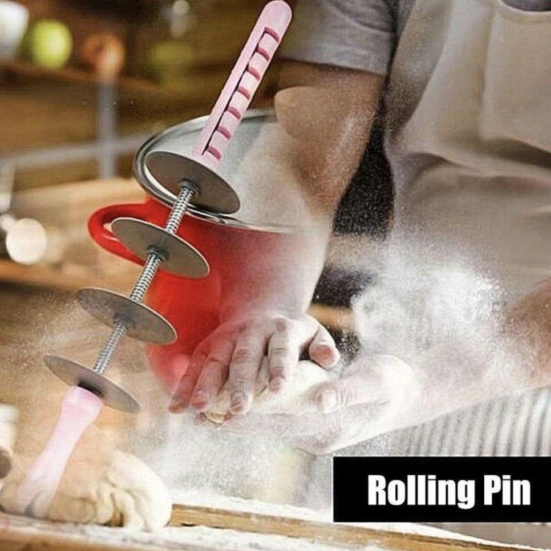 Plastic Rolling Pin for Croissant Baking - 70 % OFF