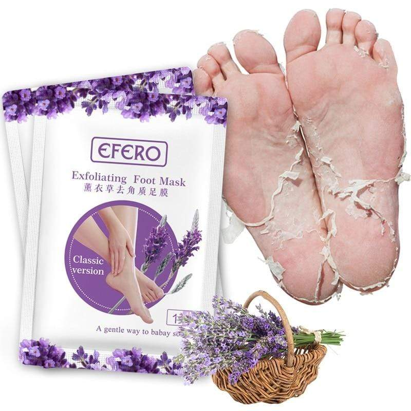 Unisex Exfoliating Scrub Pedicure Spa Socks Foot Peel (3 Pair) Lavender