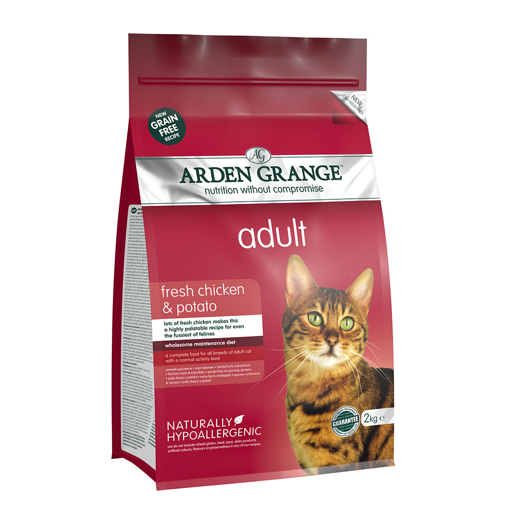 Arden Grange Grain Free Adult Cat Food Fresh Chicken & Potato 2kg