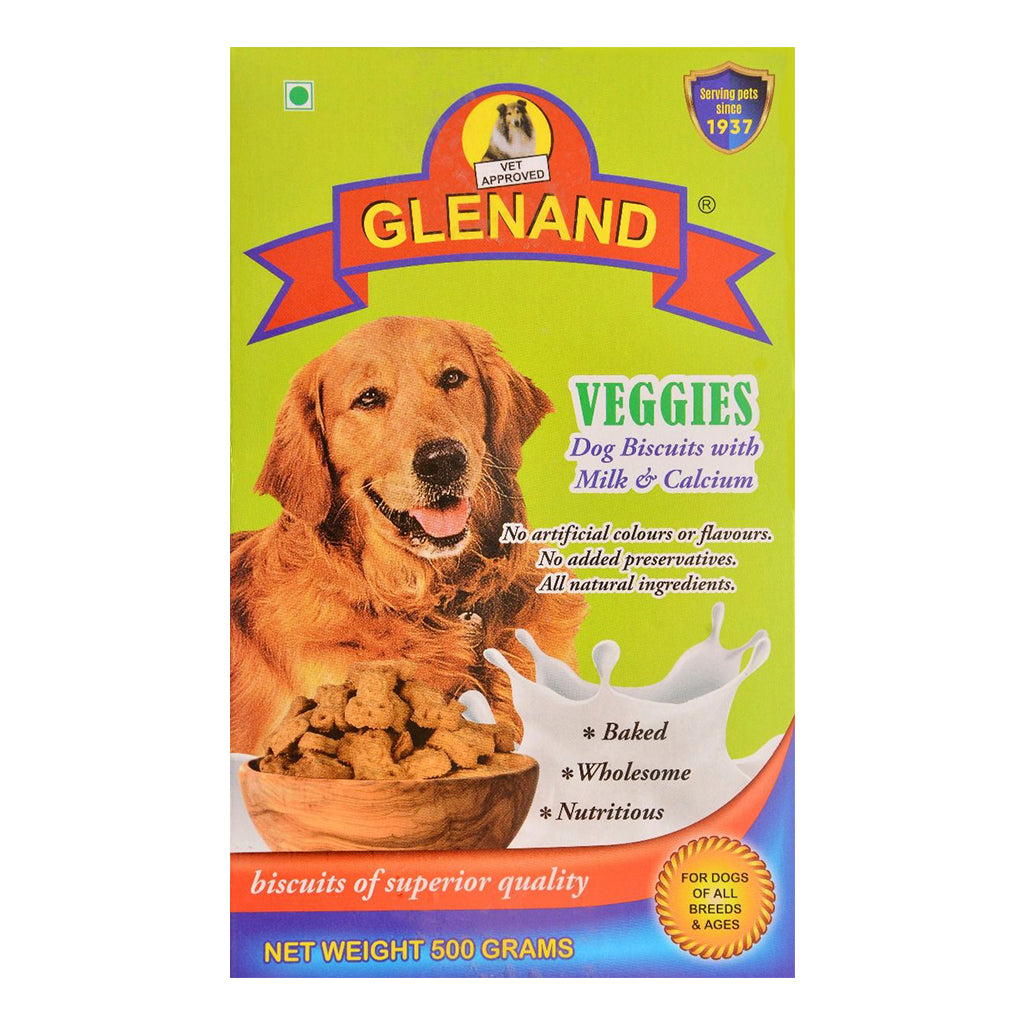 Glenand Adult Veggies Dog Biscuits - 500G
