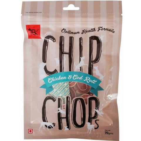 Chip Chops Ckn & Cod Roll 70G