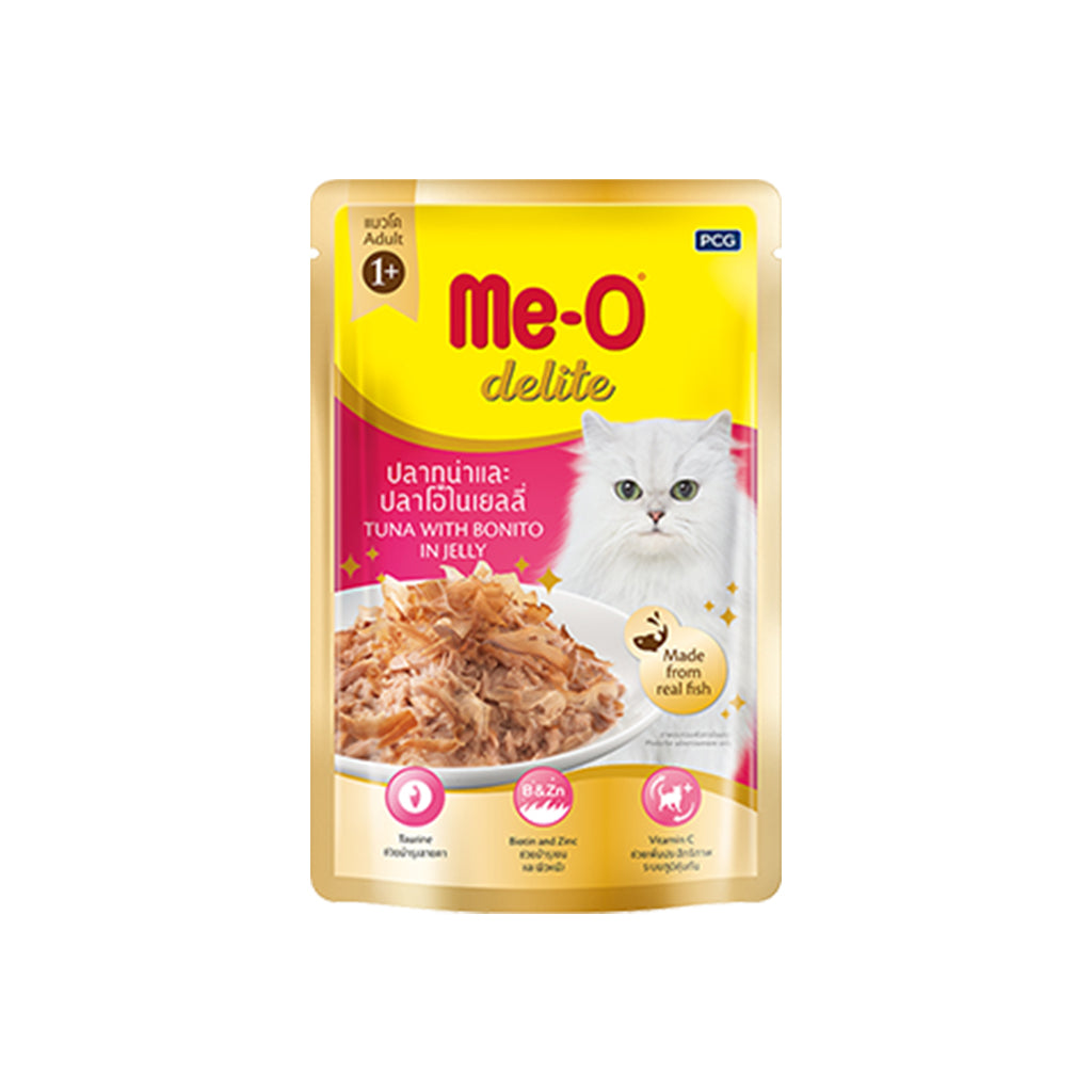 Me-O Delite Tuna with Bonito in Jelly 70g (Pack of 12)