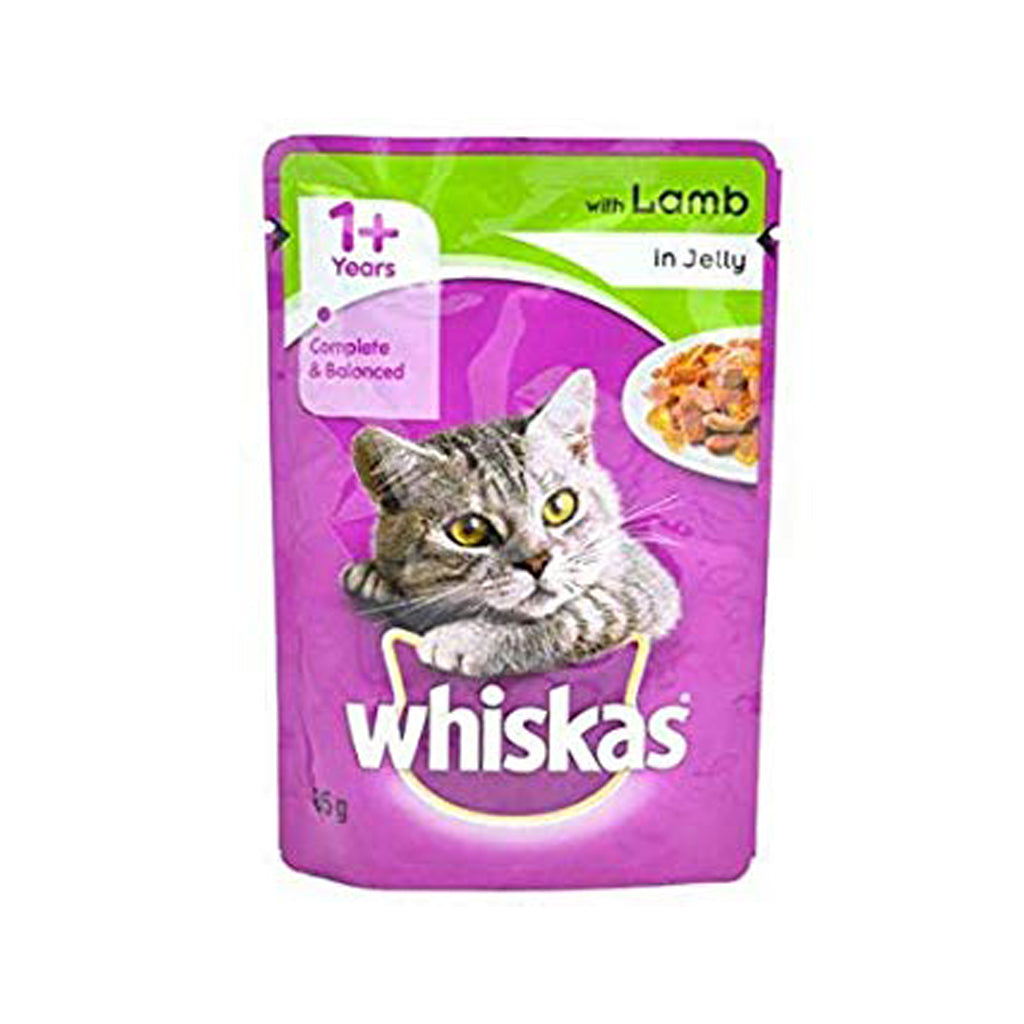 Whiskas Lamb in Jelly 85g (Pack of 12)