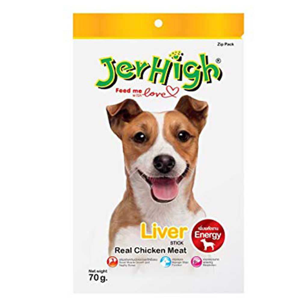 Jerhigh Real Chicken Meat Liver Stick - 70g