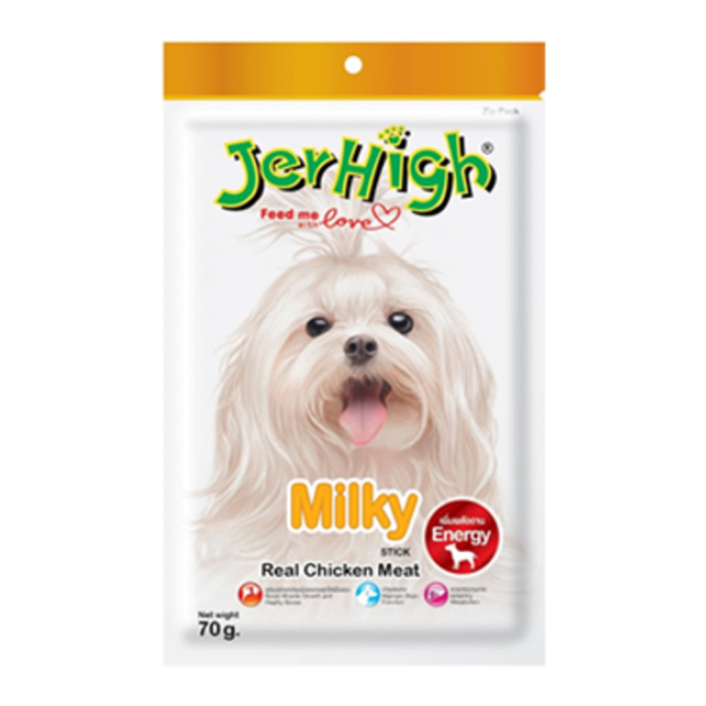 Jerhigh Real Chicken Meat Milky Stick - 70g