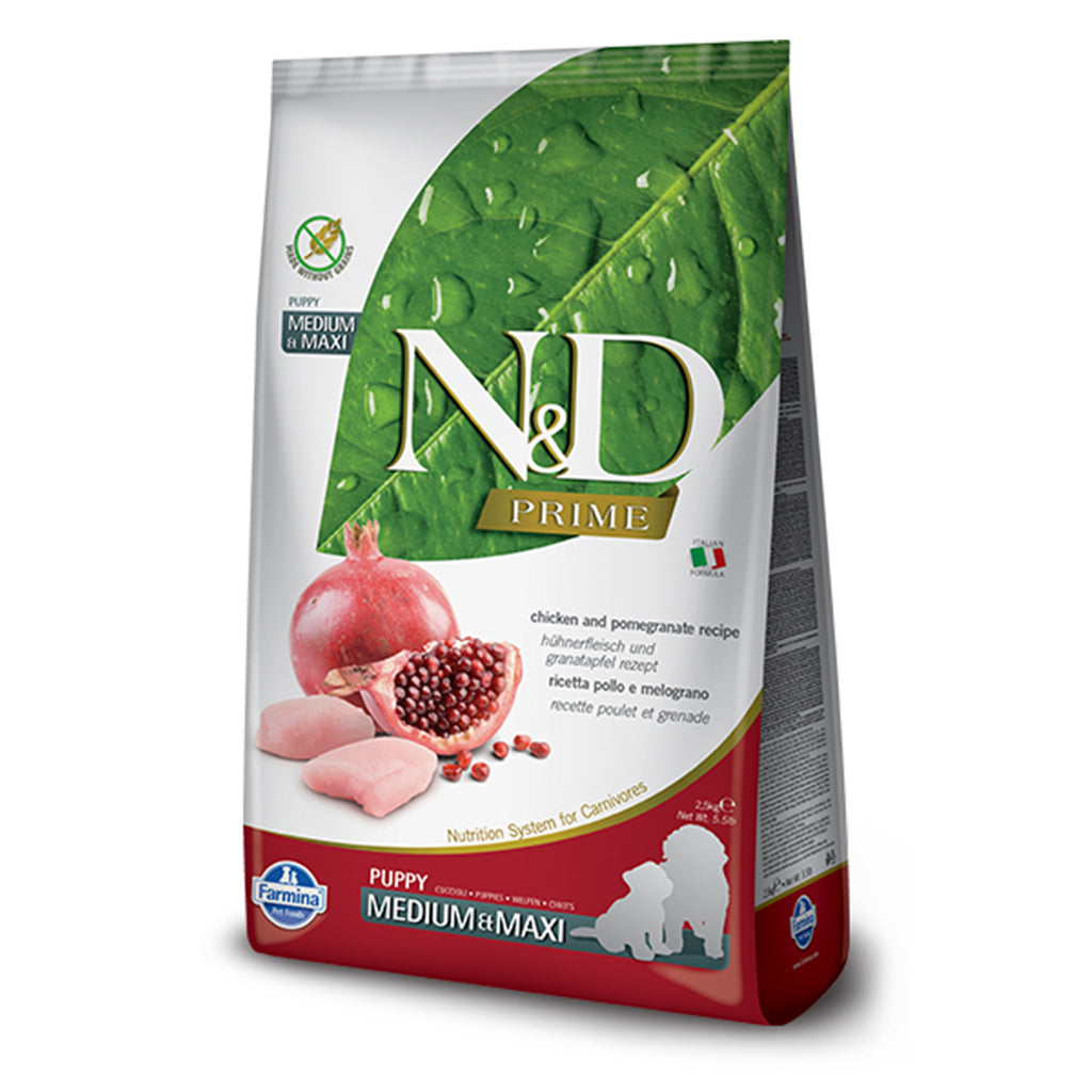 Farmina N&D Chicken & Pomegranate Medium & Maxi Puppy Dog Food