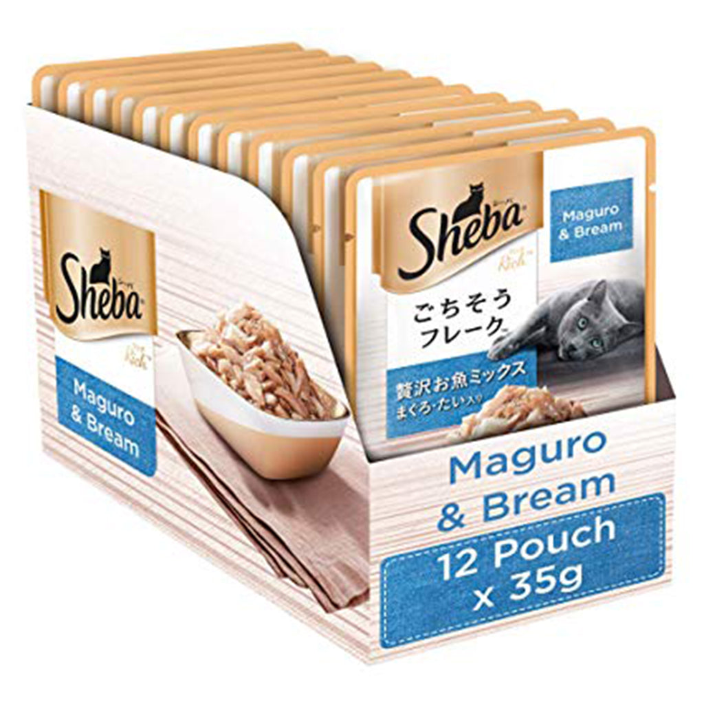 Sheba Maguro & Bream (Pack of 12)