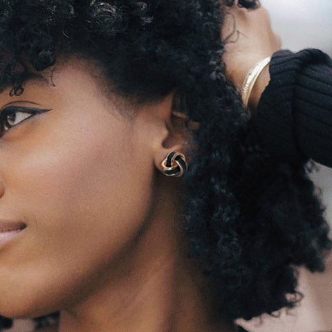 Black and Gold Clip-on earrings by eara