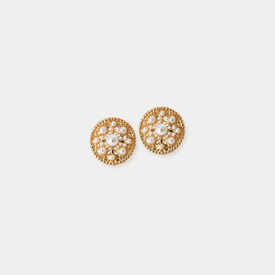 Paulette Pearl Clip-on Earrings - earaclips