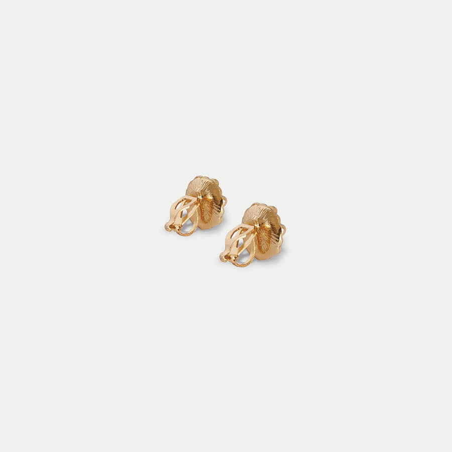 Pomelo Floret Stud Clip-on Earrings - earaclips