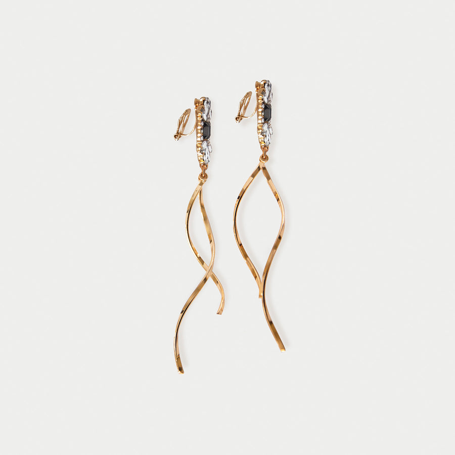 Salla Gem Clip-on Earrings - earaclips