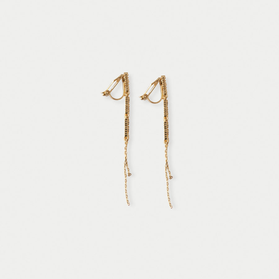 Starlit Dangle Clip-on Earrings in Gold - earaclips